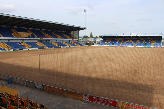 Work has begun on Stags' pitch.