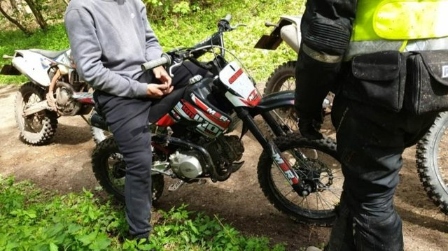 Hucknall neighbourhood team has been helping crack down on illegal use of off-road bikes. Photo: Nottinghamshire Police