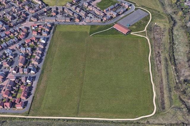 The pitch would be built on the fields off Kenbrook Road. Photo: Google Earth