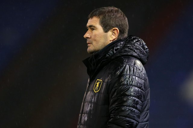 Stags boss Nigel Clough - a win away from safety.