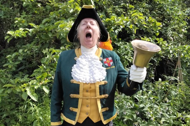 Town crier Karen Crow will be performing in Hucknall and Bulwell as part of the festival