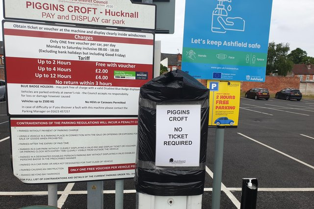 The ticket machines at Piggins Croft car park are currently out of order