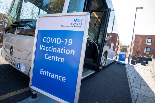 The Covid vaccine bus will be in Hucknall on May 3. Photo: Tracey Whitefoot