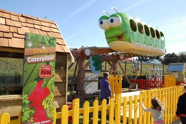 The Crazy Caterpillar ride at Fantasy Island has been suspended to avoid any Colin and Cuthbert confusion
