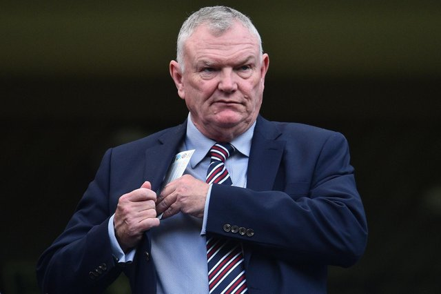 Greg Clarke was forced to resign from his role as FA chairman. (Photo credit should read GLYN KIRK/AFP via Getty Images)