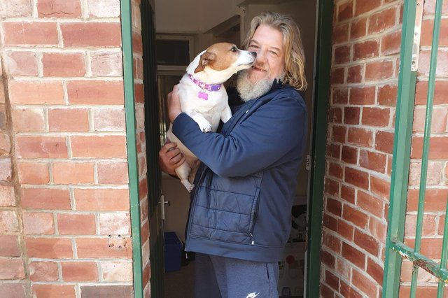 Andrew is now off the streets thanks to the generosity of Hucknall people