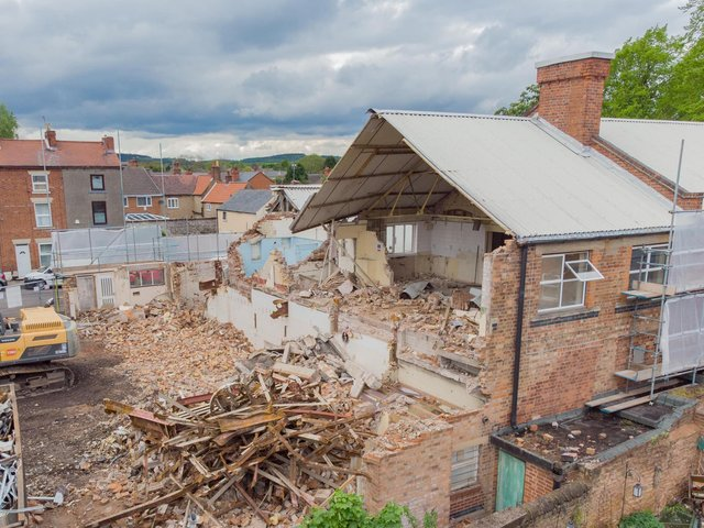 Work is now well underway to demolish the buildings on the site. Photo: Paul Atherley