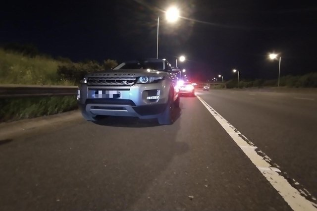 The car was recovered on the M1