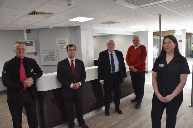 Councillors John Wilmott, Dave Shaw and Lee Waters joined the leisure centre's general manager Deanna Housley and contract manager Lorenzo Clark to cut the ribbon at Hucknall recently.