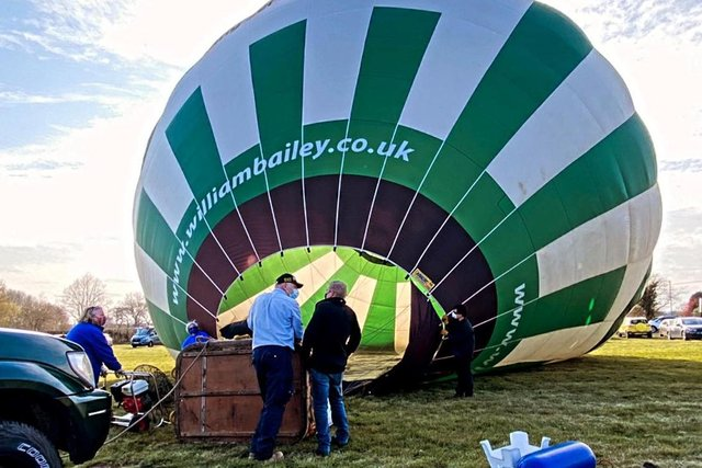 Nottingham & Derby Hot Air Balloon Club is flying again and taking some wonderful photos of the town. Photo: Robin Macey