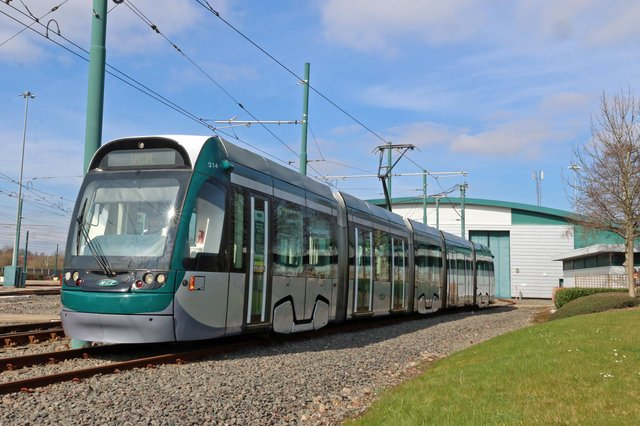 The newly refurbished tram is now back in the Nottinghamshire fleet